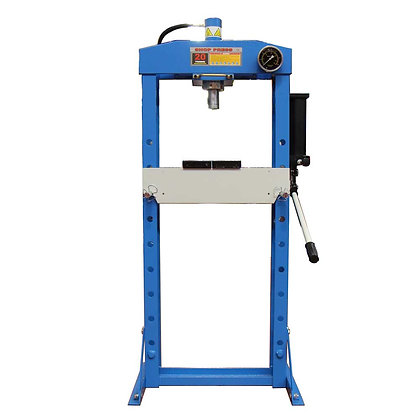 front view blue hydraulic press