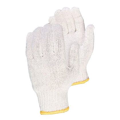 pair of white general purpose cotton gloves