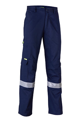 Endurite Men's Navy Cotton Drill Taped Cargo Pants