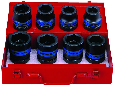 "Impact Socket Sets, 1"" Drive, Metric, 8 Piece"