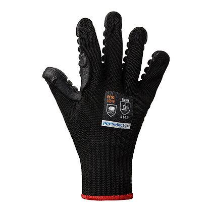 back view black anti vibration gloves