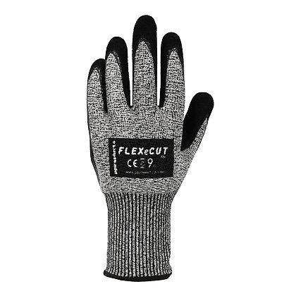 back view grey cut 5 nitrile coated glove