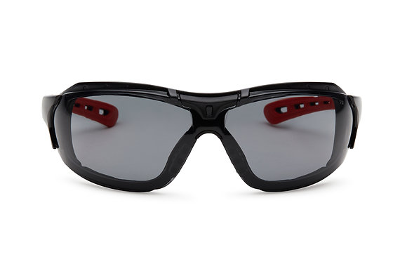 front view smoke safety glasses with gasket