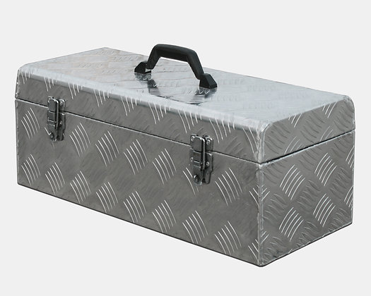 Side view aluminium tool box with handle