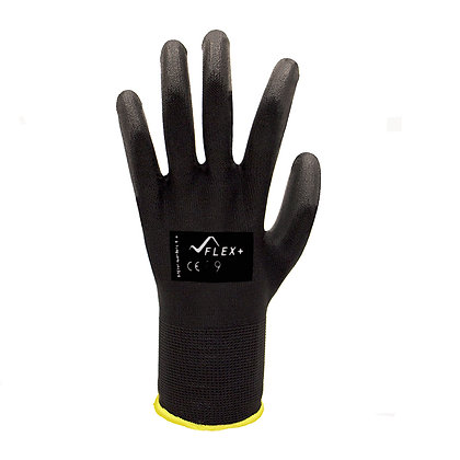 back view of black general purpose glove