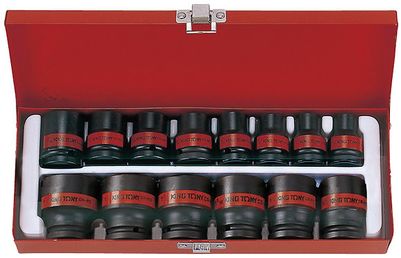 "Impact Socket Set, 1/2"" Drive, Imperial, 14 Piece"
