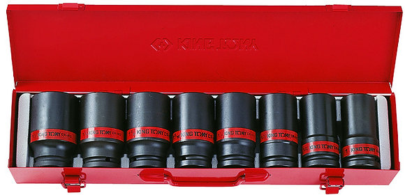 Deep Impact Socket Sets, 3?4� Drive, Imperial, 8 Piece