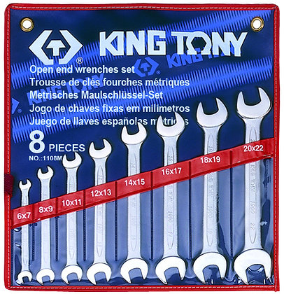 Spanner Set, Open Ended, Metric, 8 Piece