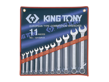 Spanner Set, Open End & Ring, Imperial, 11 Piece