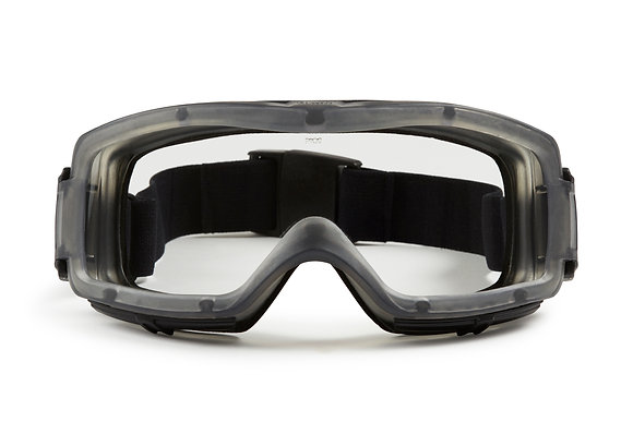 front view clear safety goggles