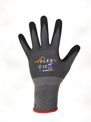 back view of black general purpose glove