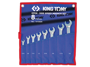 Spanner Set, Ratchet Open End & Ring, Imperial, 8 Piece