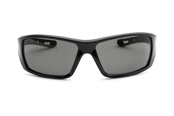 front view smoke polarised safety glasses