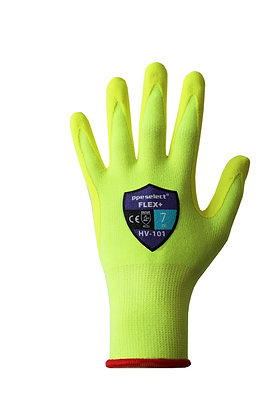 back view of high vis yellow general purpose glove