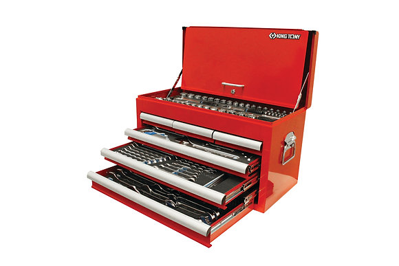 front view red 6 draw tool chest