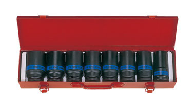 "Deep Impact Socket Sets, 3⁄4"" Drive, Metric, 8 Piece"