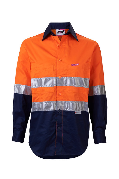 Women's Hi-Vis Taped Work Shirt - Lightweight