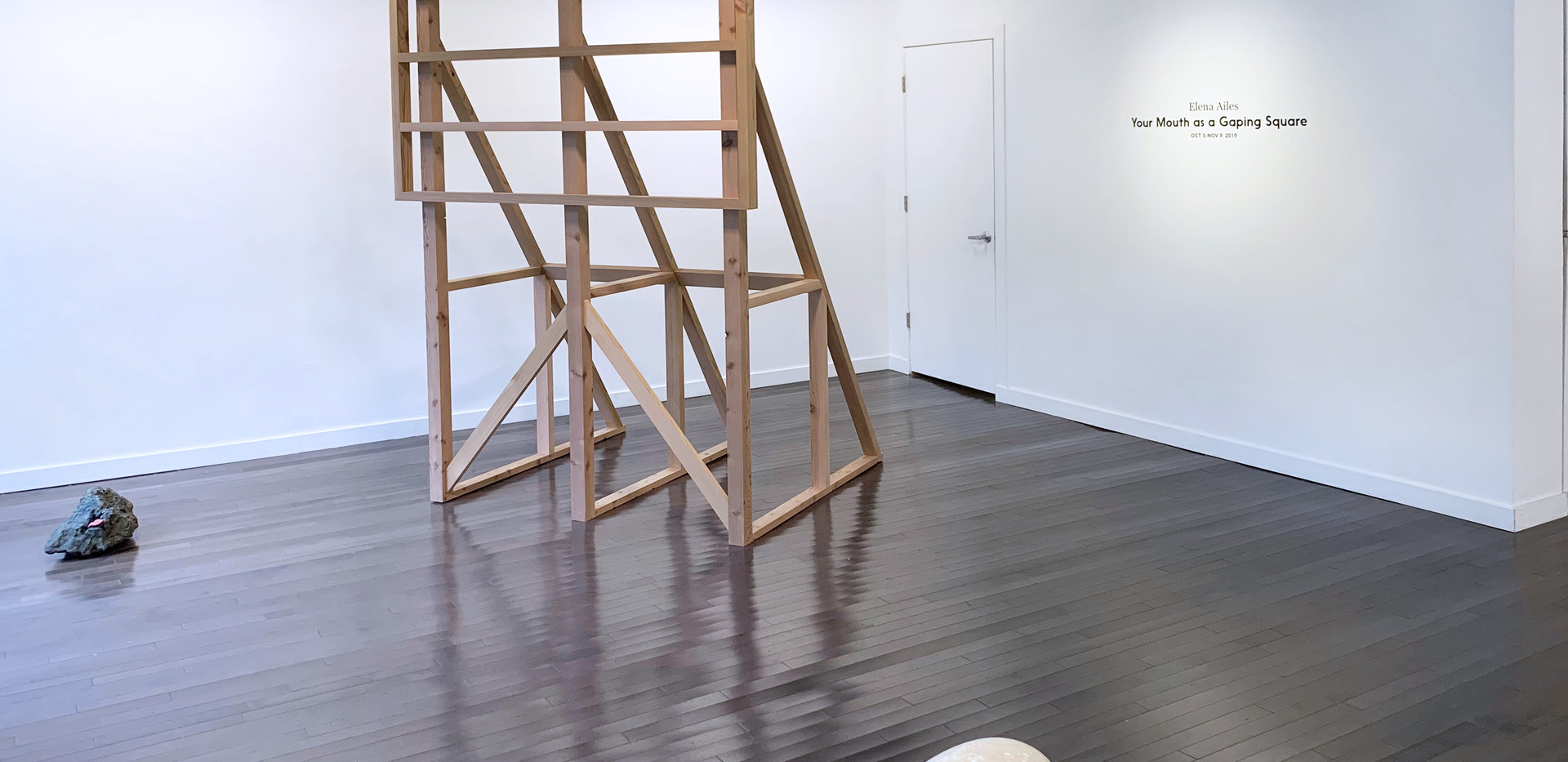 THE END WILL COME OUT OF MY MOUTH, 2019. Cedar, 7' x 5' x 4'