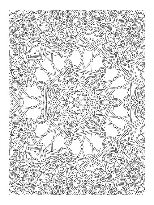 Doodle Coloring Sheet