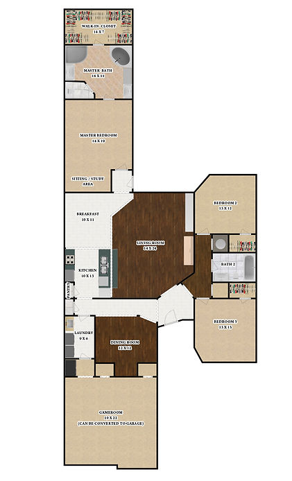 6907 LEVELLAND ROAD - FLOORPLAN