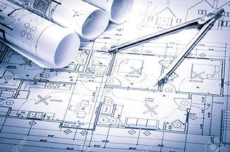 41714411-rolls-of-architecture-blueprint