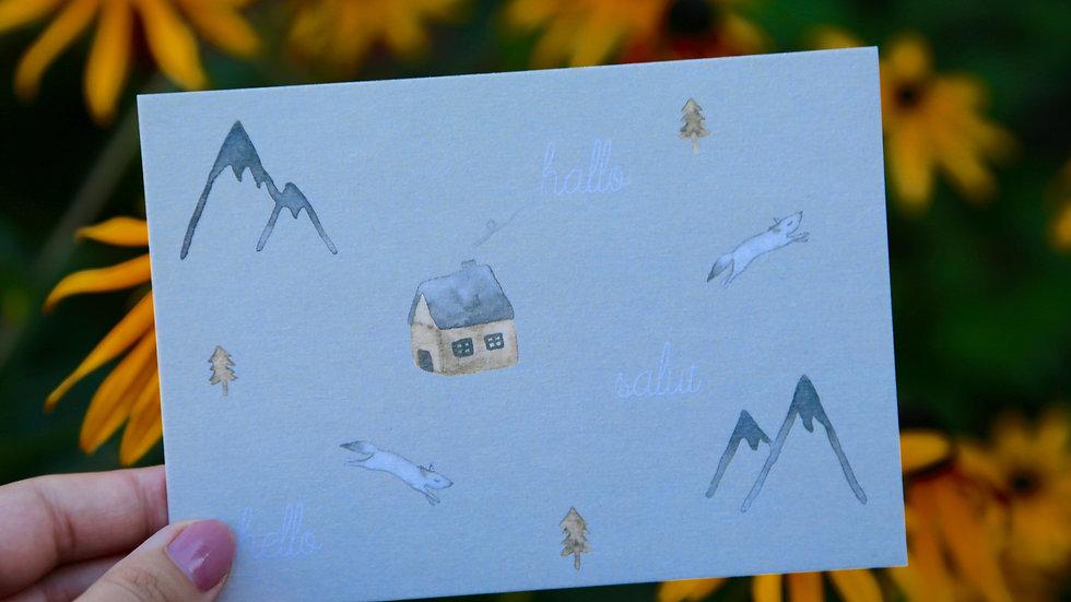 Postkarte: salut...hallo