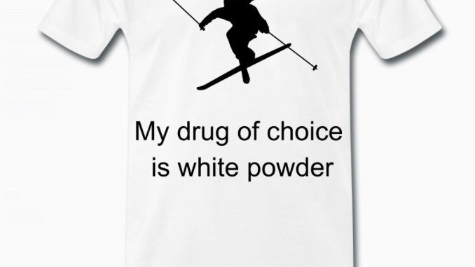 Shirt: White powder