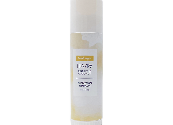WHOLESALE JUMBO LIP BALM- PINEAPPLE COCONUT (HAPPY)
