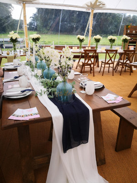 Rustic Look - Backless Benches for dinin
