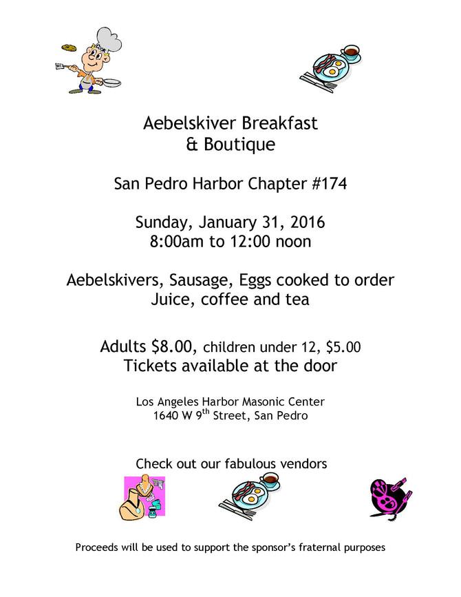 Aebelskiver Breakfast & Craft show