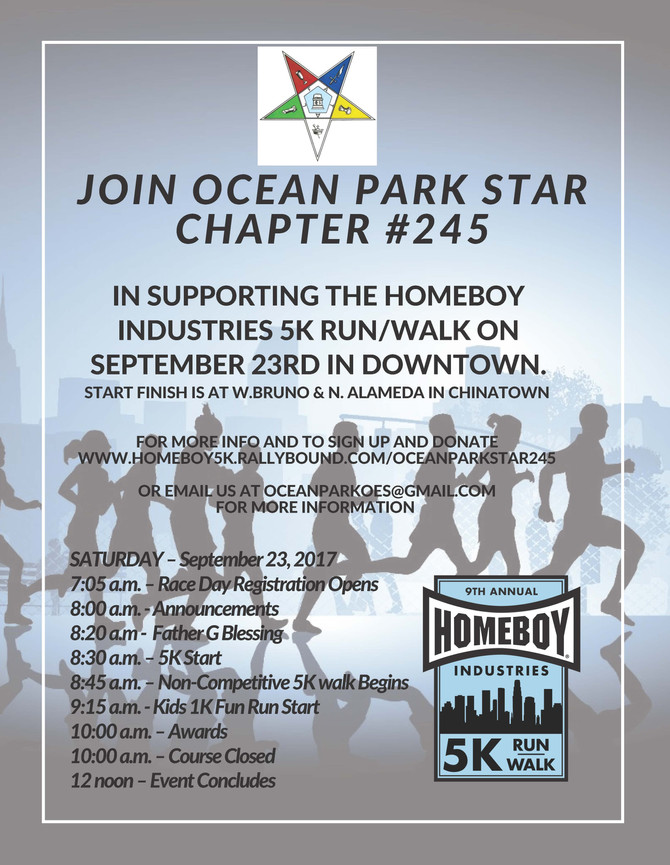 5K Run/Walk Supporting Homeboy Industries