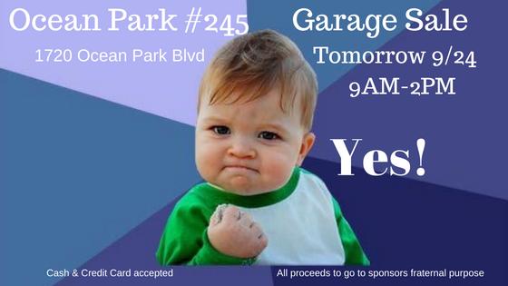 Garage Sale tomorrow!!