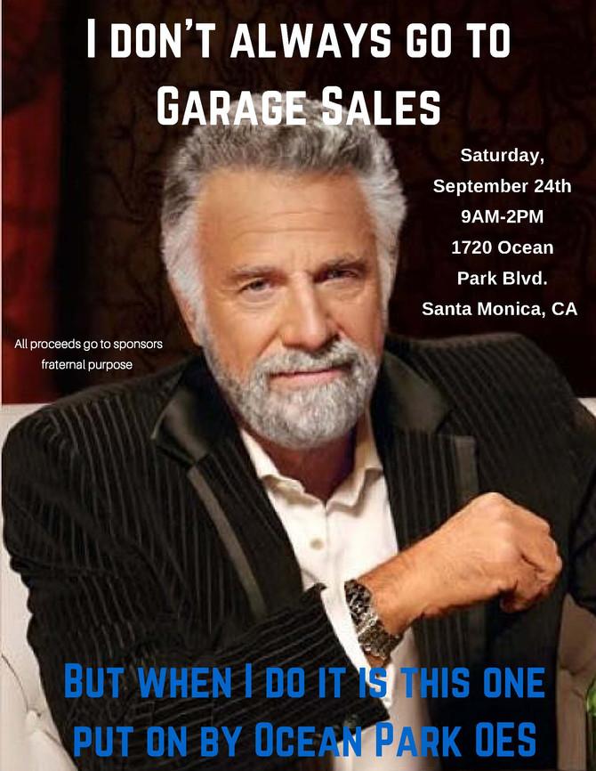 Garage Sale this Saturday 9/24!