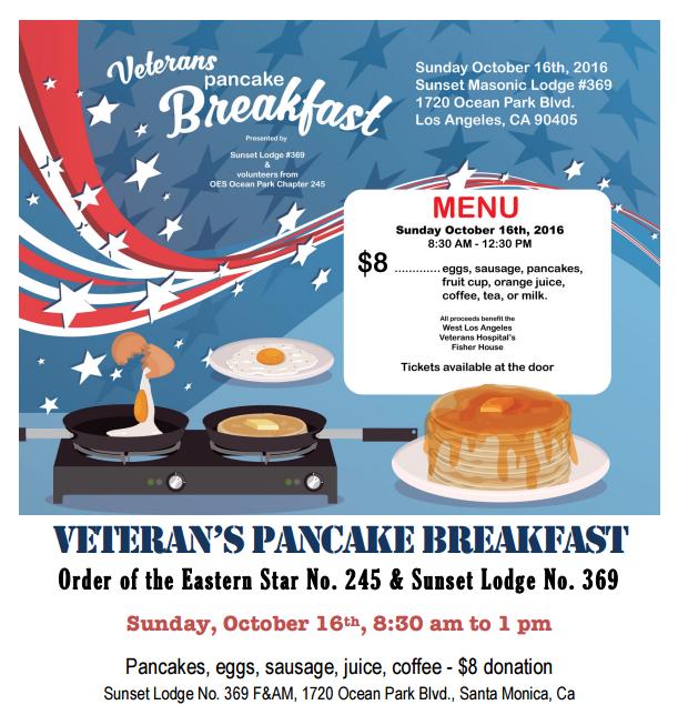 Veteran's Benefit Breakfast 10/16