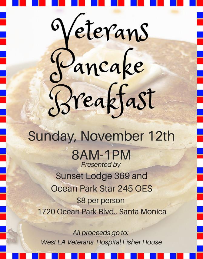 Veteran's Pancake Breakfast 11/12/17