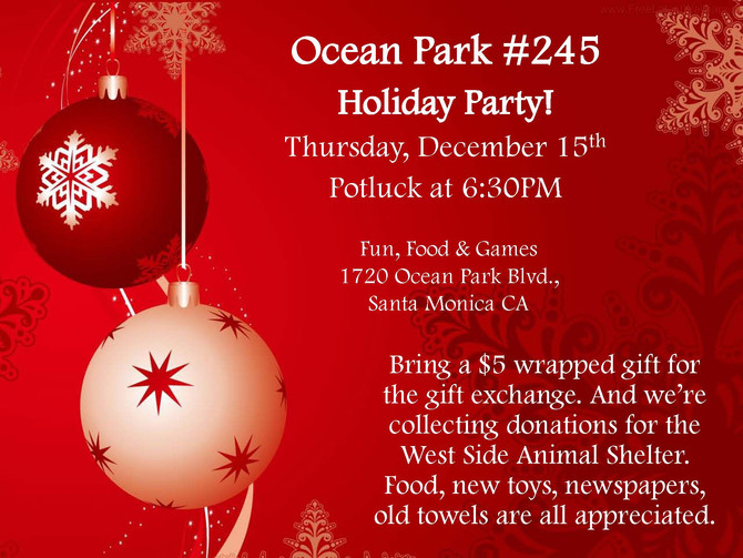 Ocean Park Holiday Party 12/15