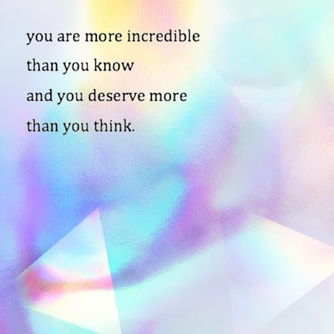 You are incredible!