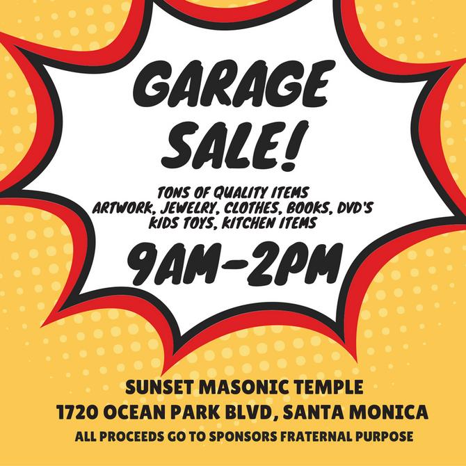 Garage Sale 9/24
