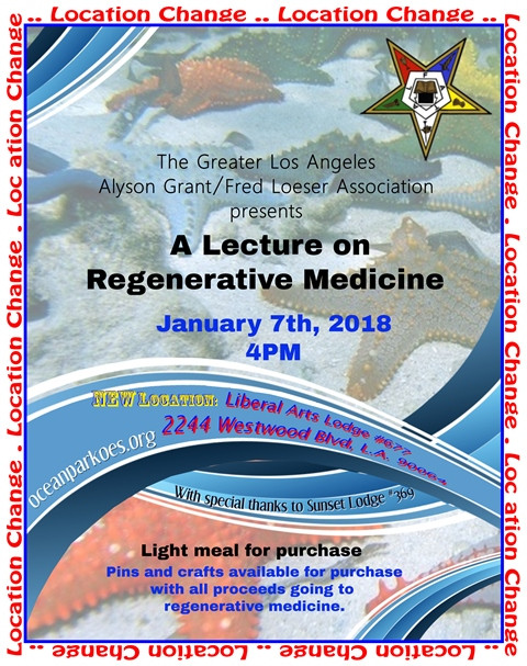 Regenerative Medicine Talk 1/7/18