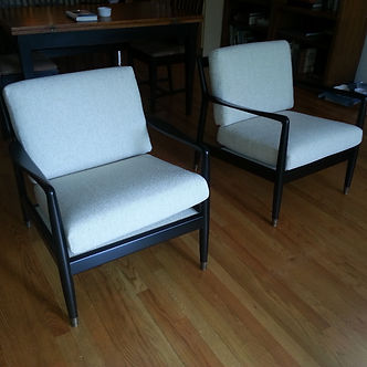 Restored and Upholstered chairs
