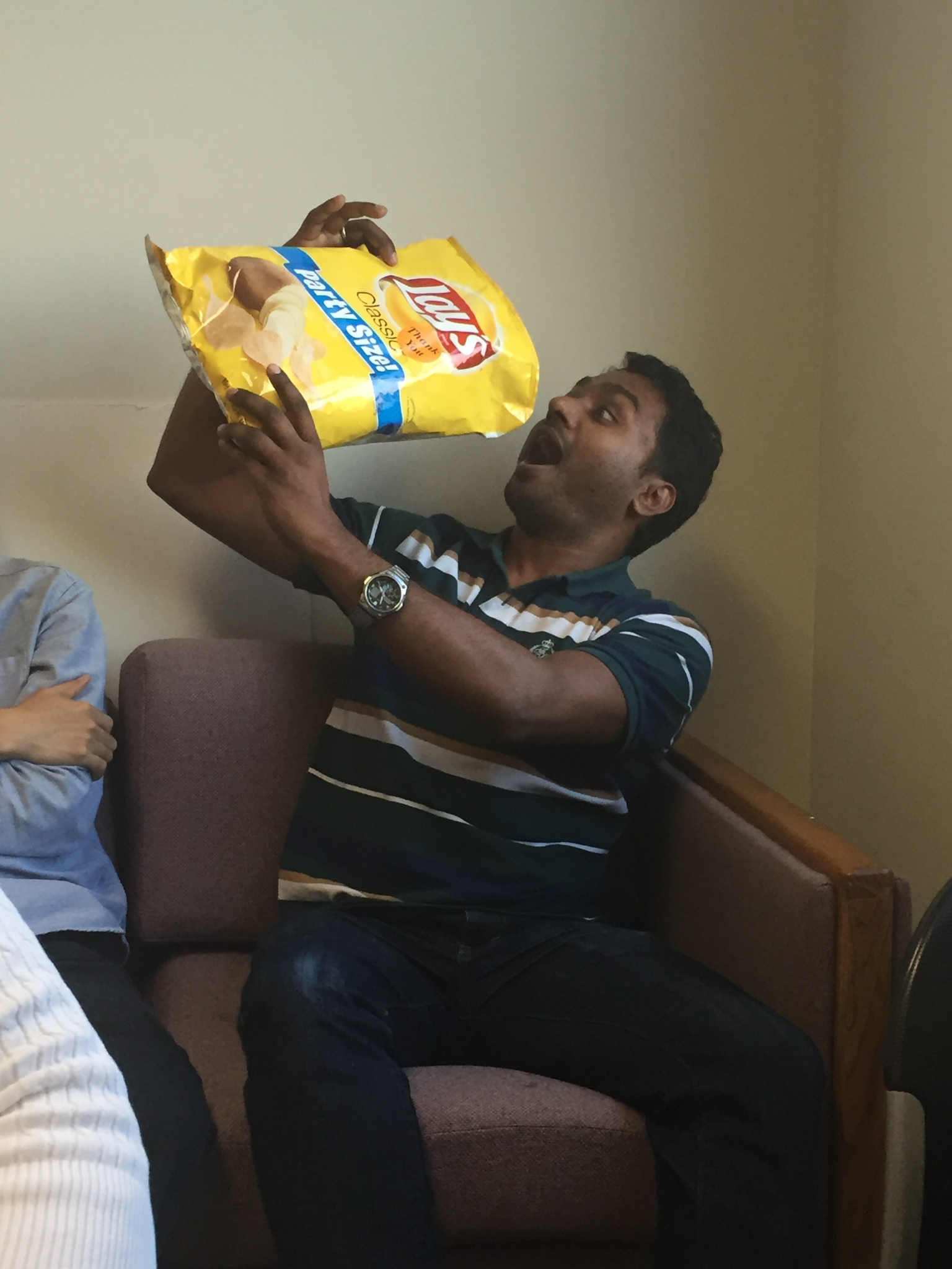 Amit can't get enough chips