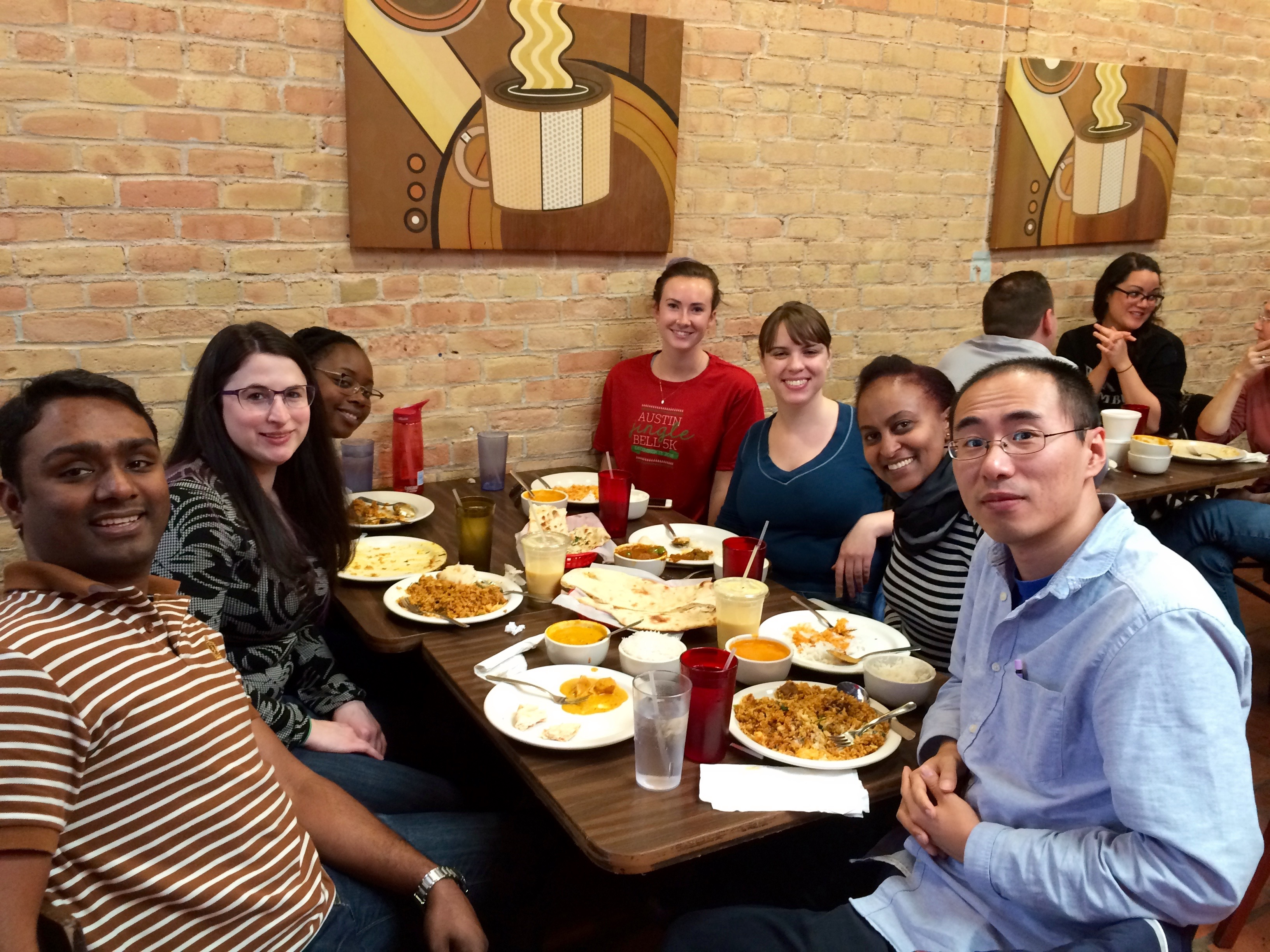 Lab lunch at Tejis