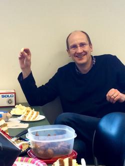 Andreas enjoying his cake