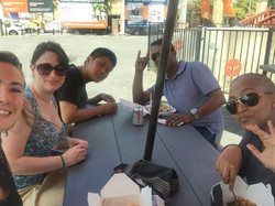 Lab lunch at a food truck park