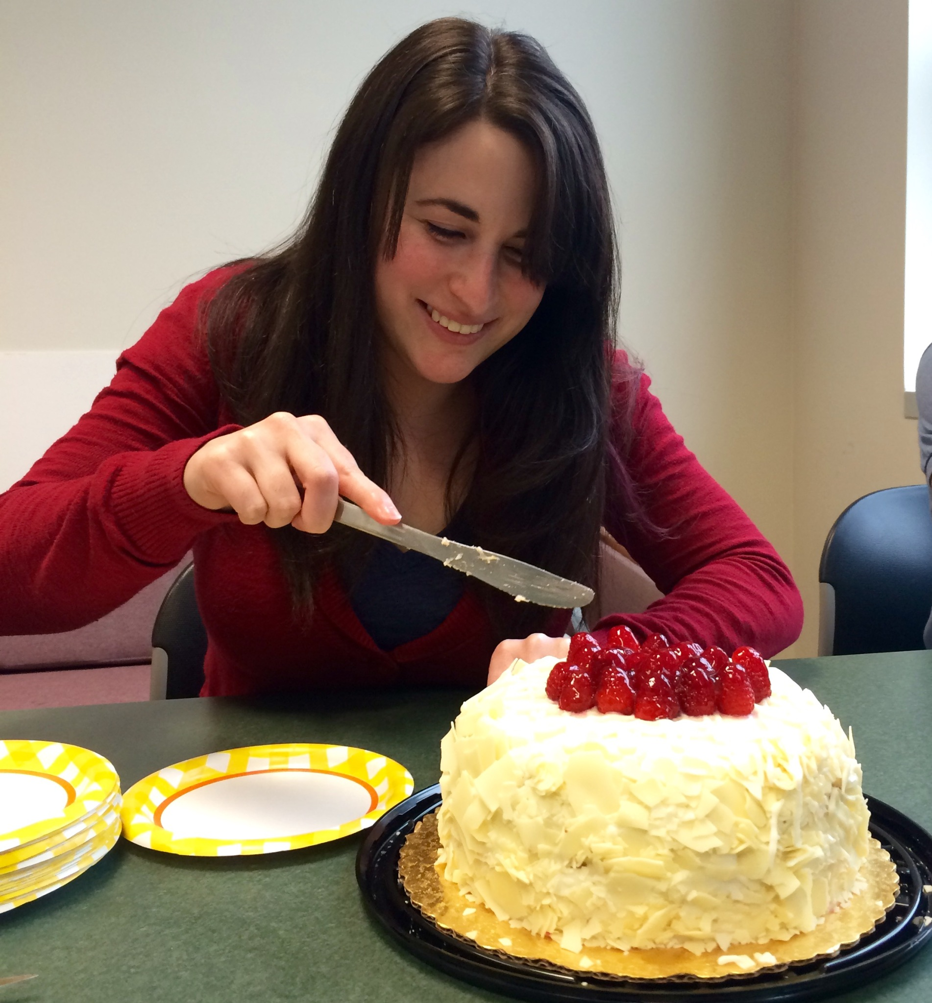 Kirby cutting her cake!