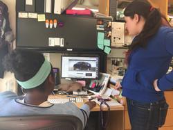 Kirby and Shameika designing a Tesla