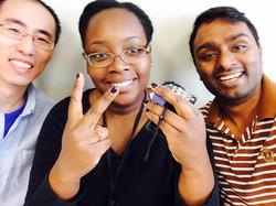Houqing, Shameika, and Amit