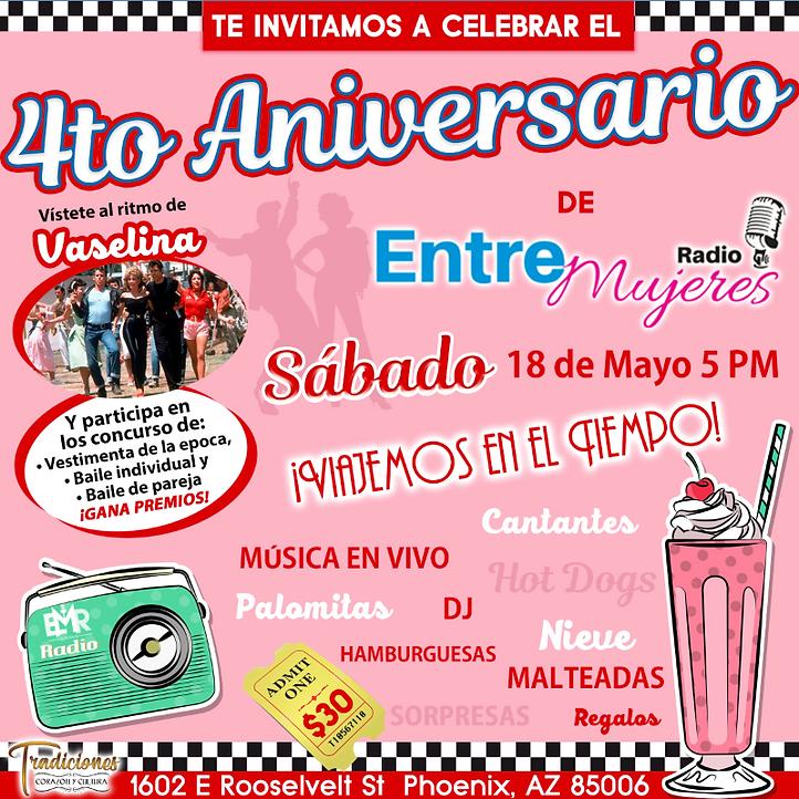 4t Aniversario Entre Mujeres Radio