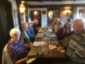 Members of th ChristCurch Guild enjoyig a excellent Christms Lunch at the Welby Arms in Allingon.