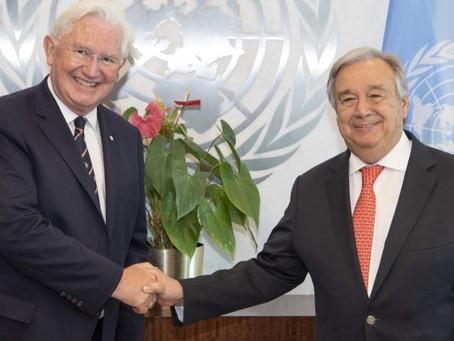 Chairman Celebrates Anniversary as UN Ambassador
